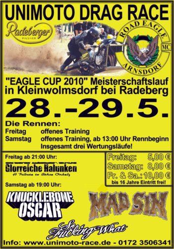 2. Eagle Cup im Unimoto Drag Race 2010 ROAD EAGLE MC Arnsdorf