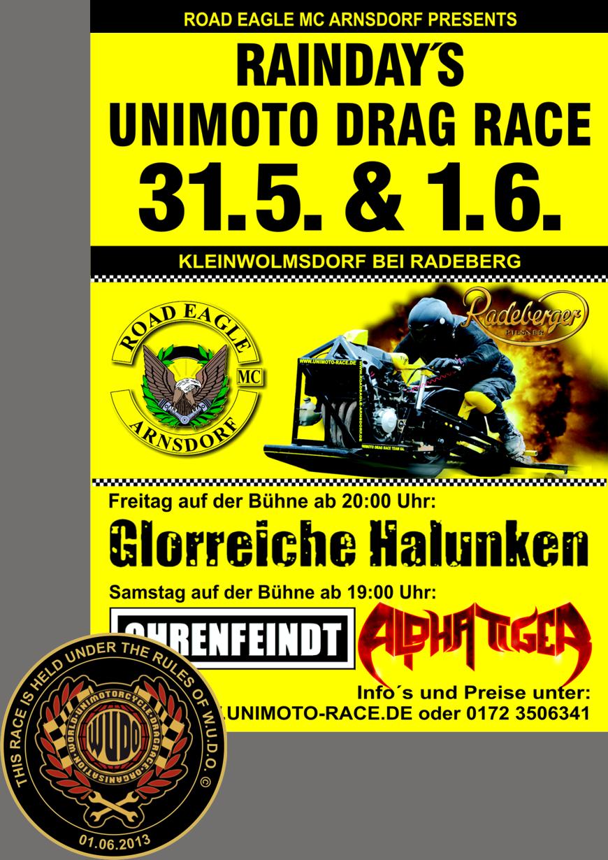 5. EAGLE CUP im Unimoto Drag Race 2013 beim ROAD EAGLE MC Arnsdorf