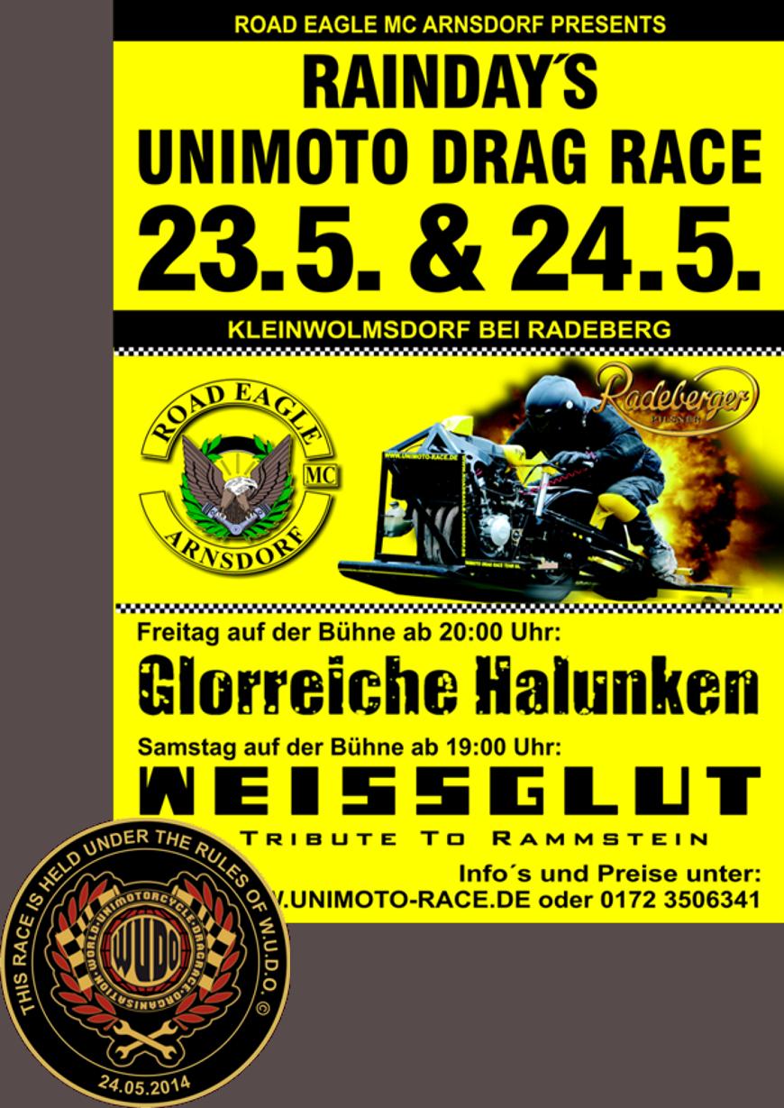 6. EAGLE CUP im UNIMOTO DRAG RACING 2014 ROAD EAGLE MC Arnsdorf