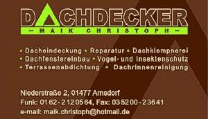 Dackdecker Maik Christoph