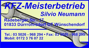 KFZ Meisterbetrieb Silvio Neumann Wünschendorf