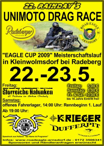1. Eagle Cup im Unimoto Drag Race 2009 beim ROAD EAGLE MC Arnsdorf