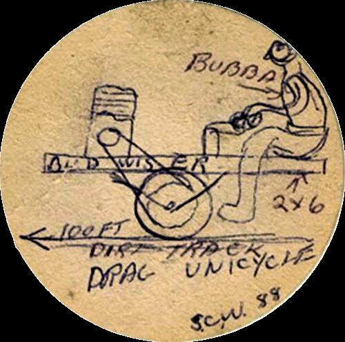 Unimoto Erster Entwurf auf enem Bierdeckel