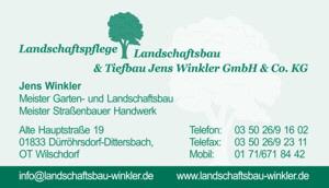 Landschaftspflege, Landschaftsbau & Tiefbau Jens Winkler GmbH & Co.KG